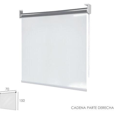 Mampara Cortina Enrollable PVC Transparente, Medidas 70 x 150 cm. Cadena Lado Derecho