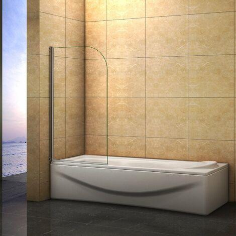 Mampara de bañera Abatible Simple de 1 Hoja 180 grados 70x140cm