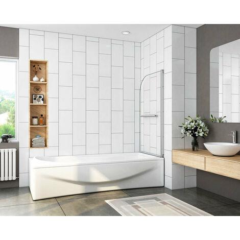 Mampara de bañera Abatible Simple de 1 Hoja 180 grados