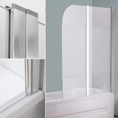 Mampara de bañera cabina de ducha Vidrio Opalino paneles plegables para bañera o ducha biombo abatible hoja de bañera