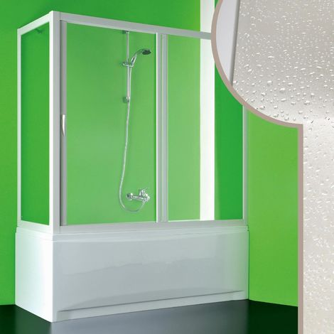 Mampara de bañera de acrílico mod. Plutone con Apertura Central