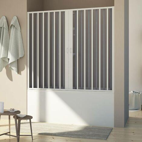 Mampara de Bañera Puerta de PVC mod. Delfi con Apertura Central
