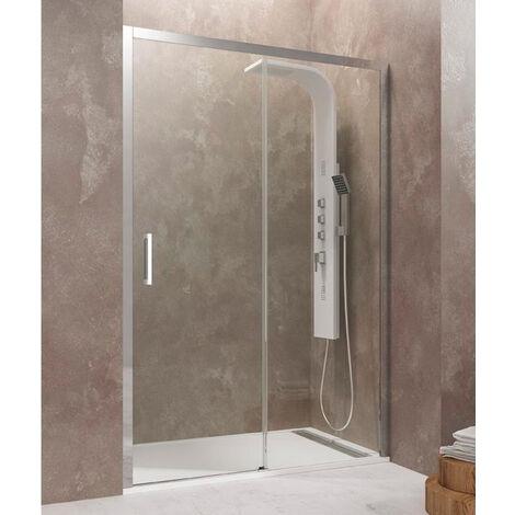 Mampara de ducha AKTUAL fijo + corredera Cristal: Transparente Medida 1: 97-103 cm