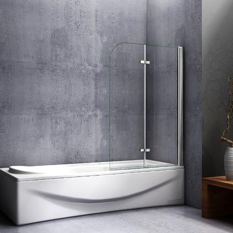 Mampara de baño con Panel pivotante de 180°, Cristal Antical de 6 mm