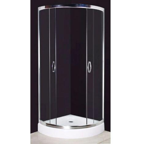 Mampara de ducha 80 x 80 cm curvo