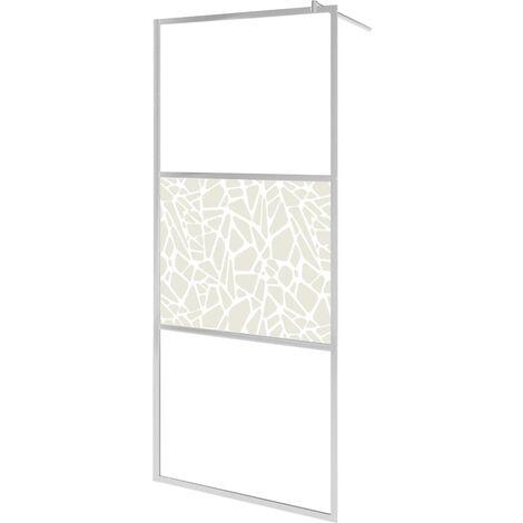 Mampara de ducha accesible vidrio ESG diseño piedras 115x195 cm