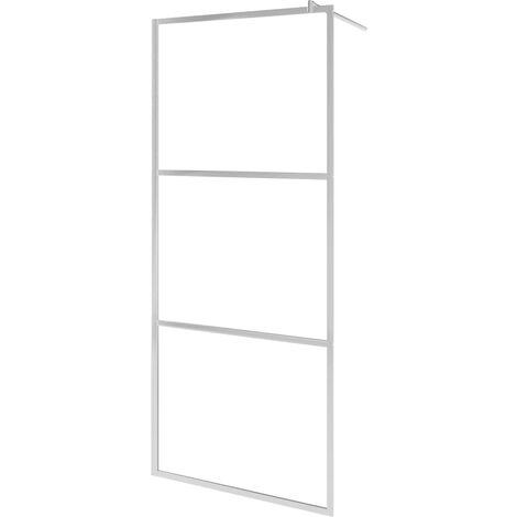 Mampara de ducha accesible vidrio ESG esmerilado 140x195 cm