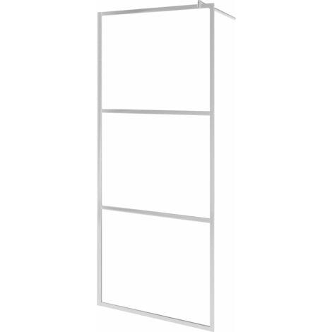 Mampara de ducha accesible vidrio ESG esmerilado 80x195 cm