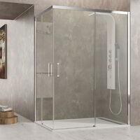 Mampara de ducha AKTUAL al vértice Cristal: Transparente