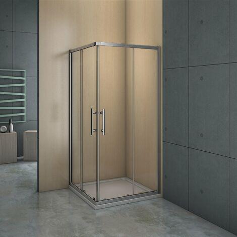 Mampara de ducha angular - 2 Fijas + 2 Correderas, Puertas Correderas