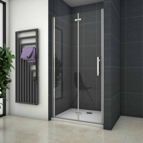 Mampara de ducha Apertura de Puerta Plegable 6mm Antical