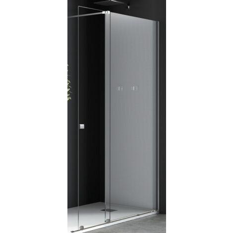 Mampara de Ducha Color Cromado Plata  Puerta Corredera Cristal Transparente 8MM