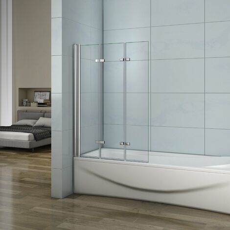 Mampara de ducha con 3 paneles plegables 130x140cm