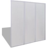 Mampara de ducha con 3 paneles plegables, 141 x 130 cm