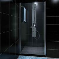 Mampara de ducha con puerta de vidrio 80 cm