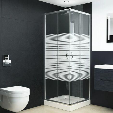 Mampara de ducha con vidrio de seguridad 90x70x180 cm