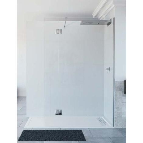 Mampara de ducha de 1 hoja fija + 1 abatible - Modelo LIBO
