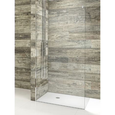 Mampara de ducha de 1 hoja fija - Cristal de Seguridad de 8 mm - Modelo AURORA