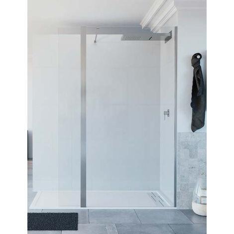 Mampara de ducha de 1 hoja fija y 1 abatible - Modelo TELLA