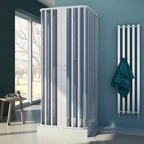 Mampara de ducha de PVC 3 lados mod. Nova con Apertura Central