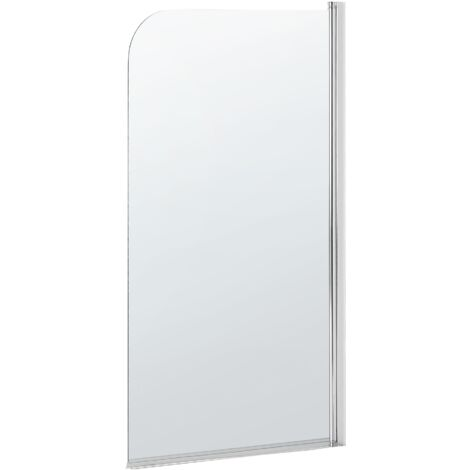 Mampara de ducha de vidrio templado 140x80 cm LAPAN