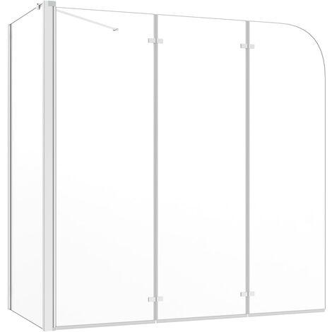 Mampara de ducha de vidrio templado transparente 130x130 cm