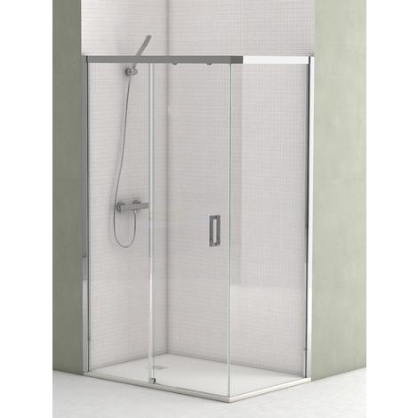 Mampara de ducha Denver angular con fijo