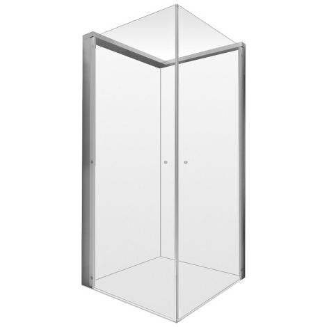 Mampara de ducha Duravit Open Space cuadrada, 800x800mm, grifo a la izquierda, cabinas de ducha: cristal incoloro - 770001000000000