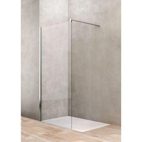Mampara de ducha fija 100 cm vidrio transparente Ponsi Gold BBGOLTWI10 | 100 cm (98-100)