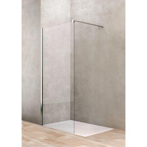 Mampara de ducha fija 120 cm vidrio transparente Ponsi Gold BBGOLTWI12 | 120 cm (118-120)