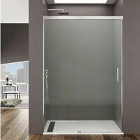 Mampara de ducha Frontal BASIC fijo + corredera Decoración: Transparente