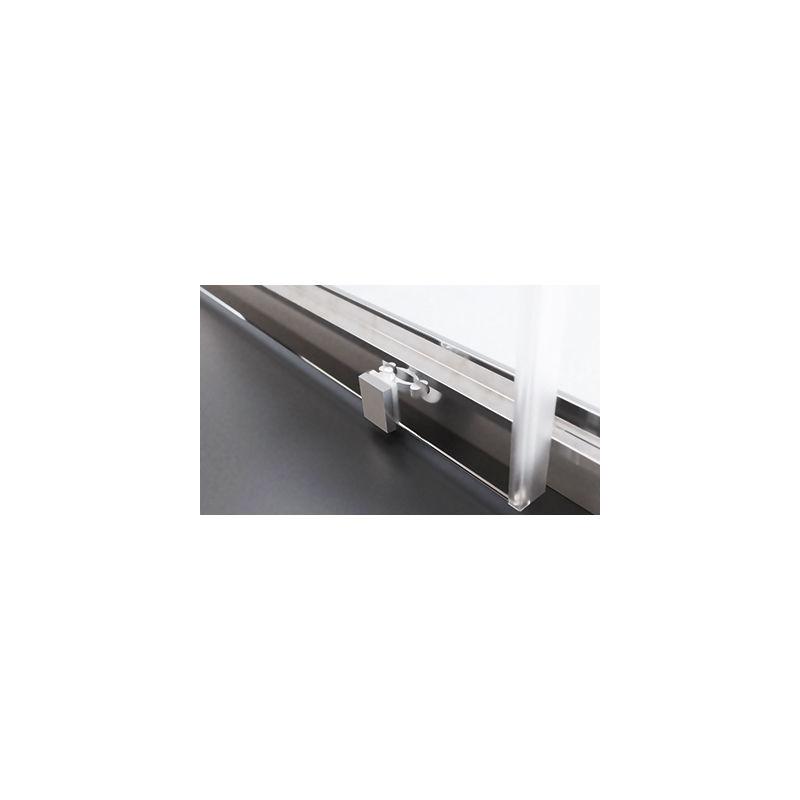 1 Hoja Fija y 1 Hoja Corredera 117-121 Modelo DORA Mampara de Ducha Frontal Cristal 6 mm con ANTICAL INCLUIDO