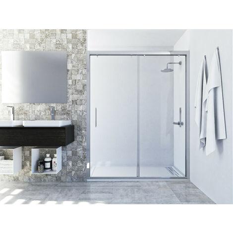 Mampara de ducha frontal de 2 puertas correderas. Modelo Q2HD [Apertura por ambos lados]