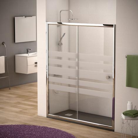 110x195cm Mampara de ducha con Apertura de puerta Corredera Antical