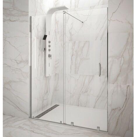 Mampara de ducha Frontal VITRO fijo + corredera