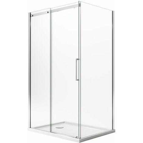 Mampara de ducha H200 Transparente con EasyClean mod. Prime Duo 1 hoja