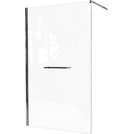 Mampara de ducha INDUS 8mm con estante y toallero