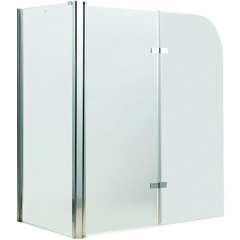 Mampara de ducha cabina de ducha bañera vidrio paneles plegables para bañera o ducha biombo abatible hoja de bañera
