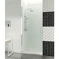 Mampara de ducha Open 1 puerta abatible con cierre imán a pared