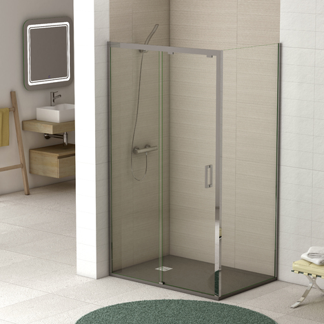 Mampara de ducha Orleans angular con fijo - 1 fija + 1 corredera