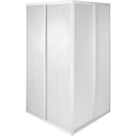 Mampara de ducha para cabina - cabina de ducha de aluminio, mampara de baño inoxidable ligera, mampara para ducha contra salpicaduras - 80 x 90 x 185 cm