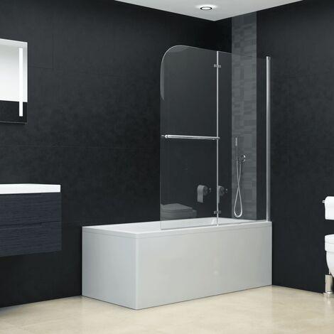 Mampara de ducha plegable 2 paneles ESG 120x140 cm