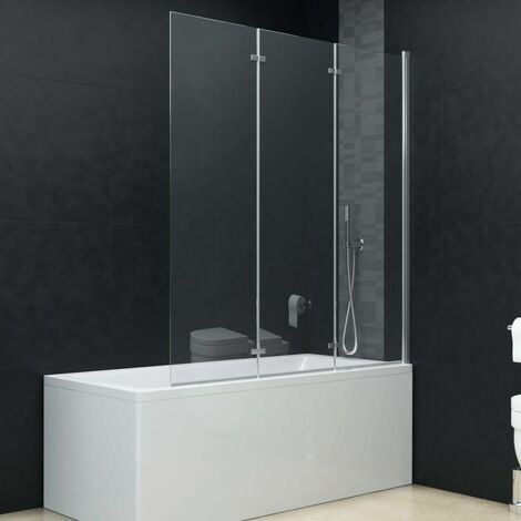 "main image of ""Mampara de ducha plegable 3 paneles ESG 130x138 cm"""