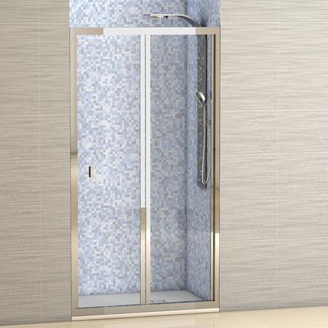 Mampara de ducha Portland frontal - Hojas plegables