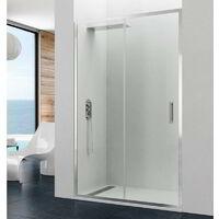 Mampara de ducha PRESTIGE fijo + corredera Cristal: Transparente