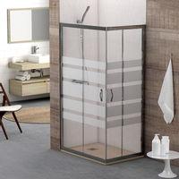 Mampara de ducha Sicilia angular - 2 fijas + 2 correderas