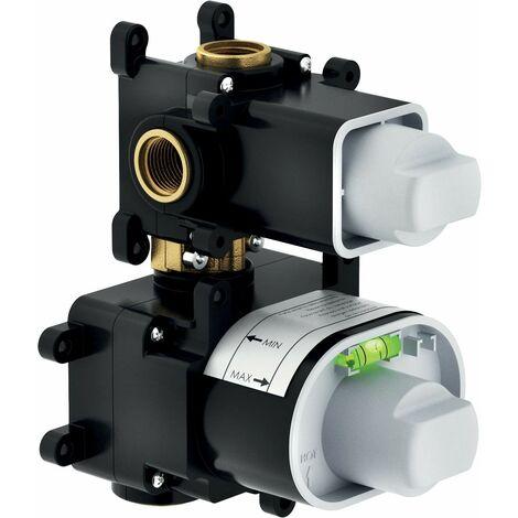 Mampara de ducha termostática empotrada con desviador Nobili WE00102 | parte incorporada