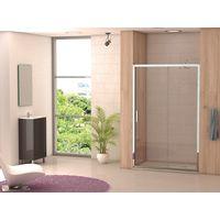 Mampara Ducha PALENCIA2 Frontal 1 fijo + 1 puerta corredera vidrio