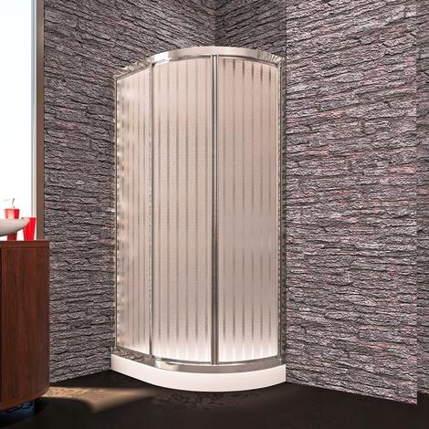 Mampara Ducha Semicircular CAPPA vidrio transparente 4 mm, modelo especial por tabiques