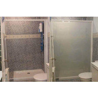 Mampara enrollable para ducha con cajón derecha y cierre izquierda